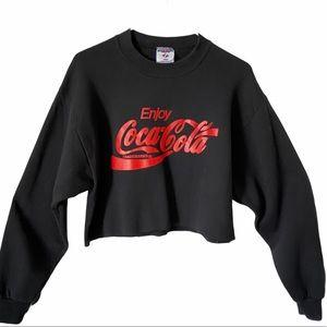 Coca-Cola Cropped Pullover Sweatshirt